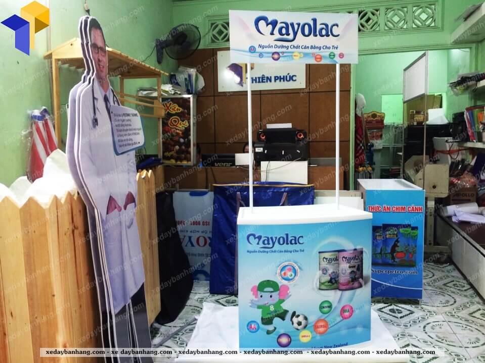 booth sampling nhựa mayolac