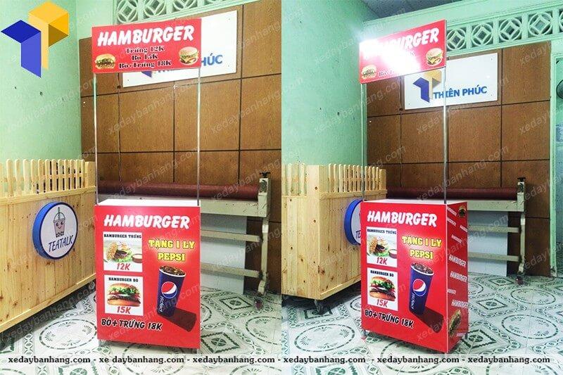 quầy bán bánh hamberger