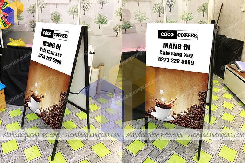 standee chữ a coco coffee