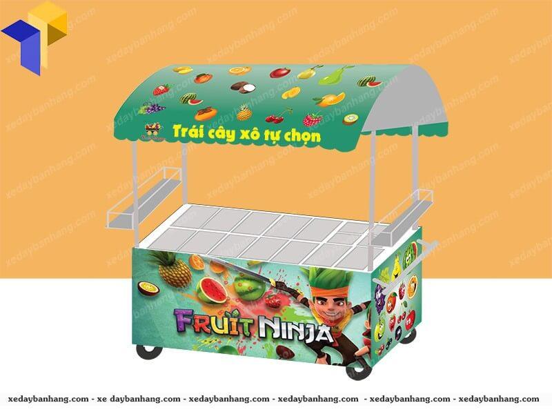 thiết kế xe bán trái cây tự chọn