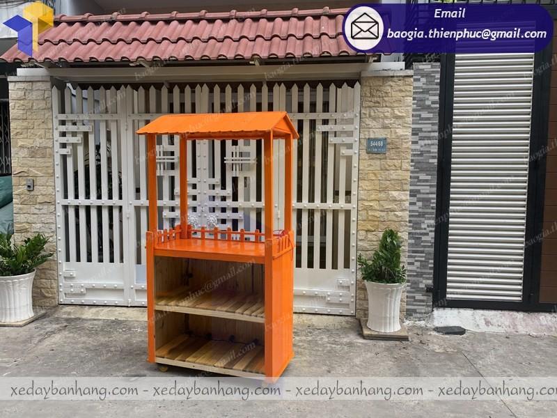 tủ gỗ bán nước cam