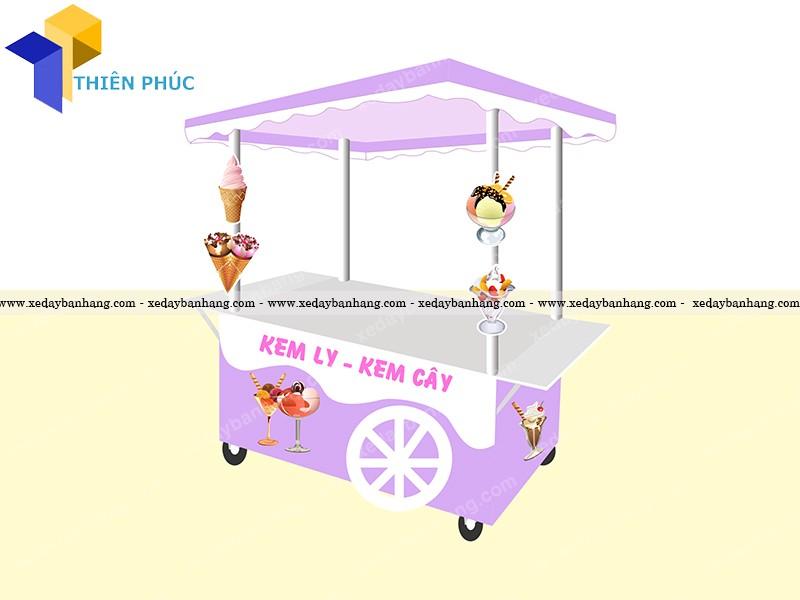 xe bán kem dễ thương