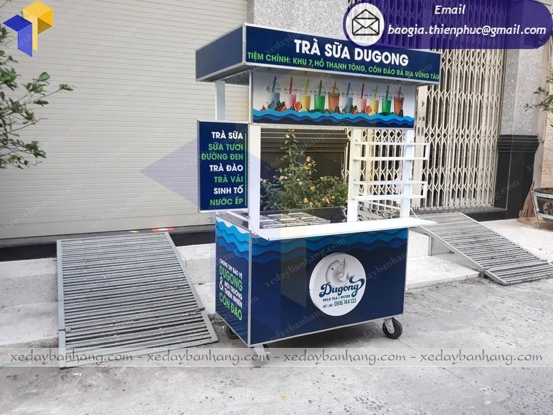xe bán trà sữa lưu động