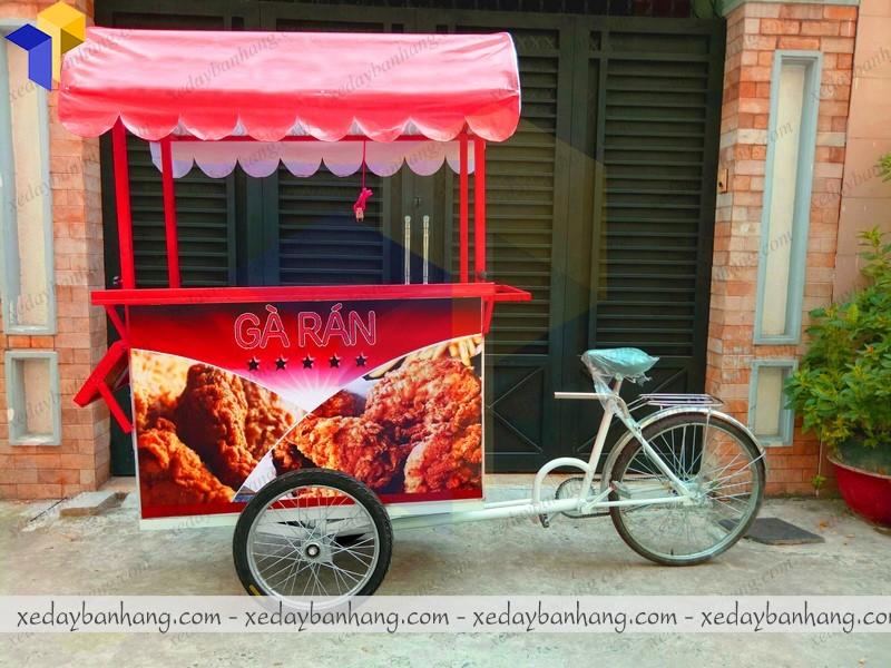 xe đạp gà rán lưu động